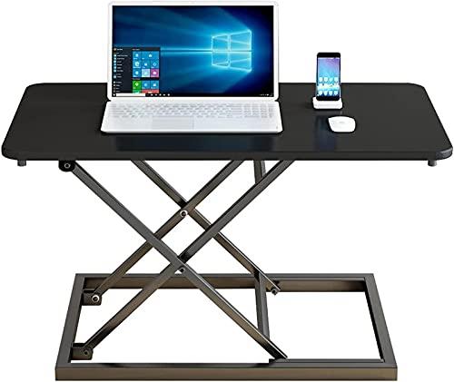 AWJ Mesa de trabajo altura ajustable de pie PC escritorio plegable portátil soporte de sobremesa
