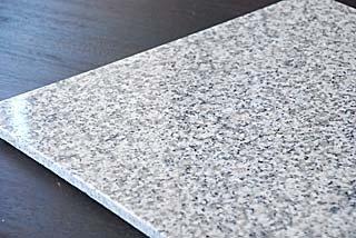 1枚白御影石40cm×40cm×1.2cmひんやり気持ちいいペットマット(クールペットベッド)!G623表面磨き仕上げ角部R加工仕上げ