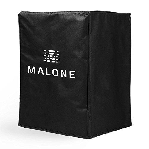"""Malone PA Cover Bag 10 PA-Lautsprecher Schutzhülle Abdeckung mit 2 Laschen für Zugriff auf den seitlichen Tragegriff (25 cm (10""""), Nylon, Klettverschluss) Schwarz"""