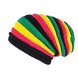 Bonnet Rasta Rouge Jaune Vert Jamaicain Laine Fashion Jack - Mixte