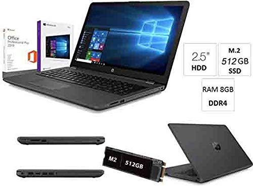 Notebook Pc Portatile HP 255 G7 fino 2,6 GHz Display 15.6',Ssd M.2 512GB,Ram 8Gb ddr4,Radeon R3/Hdmi,Masterizzatore DVD CD RW,Wifi,Bluetooth,Licenza Windows 10 pro+Office pro 2019,nuovo garanzia 2anni