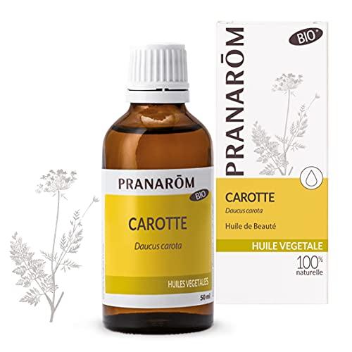 Pranarôm |Huile Végétale Carotte Bio | Eclat du Teint | Extrait lipidique titré de racines de Carotte | 50 ml
