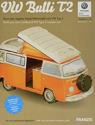 VW Bulli T2   VW-Bulli-Papier-Bausatz mit Begleitbuch