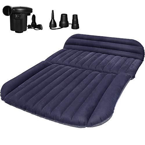 QDH SUV Auto Luftmatratzen-Camping Aufblasbare Matratze-Aufblasbares Bett für den Auto-Rücksitz-Dickere Luftbett Auto Matratze für Reisen Camping Outdoor Aktivitäten