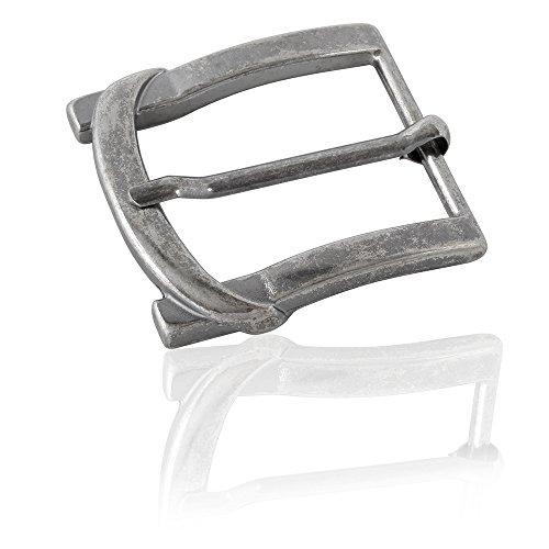 Gürtelschnalle Buckle 40mm Metall Silber Antik - Buckle Arven - Dornschliesse Für Gürtel Mit 4cm Breite - Silberfarben Antik