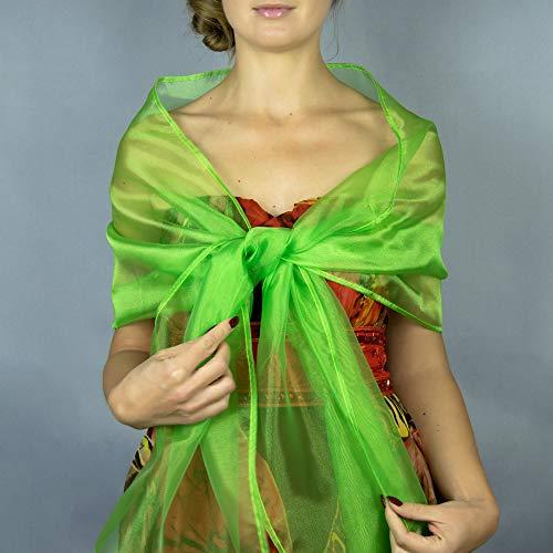 Chal chiffon color verde neon novia boda novia para vestido de fiesta