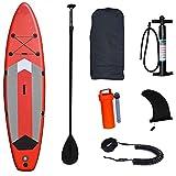 Sup Paddleboarding,Tabla De Paddle Surf Inflable con Asiento Opcional, para Jóvenes Adultos Pesca Yoga Surf Racing (Color : Red, Size : 320 * 81 * 15cm)