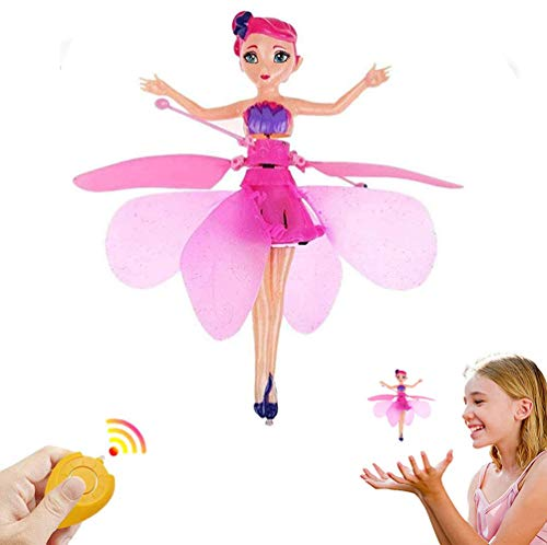 TYZEST Flying Fairy Toy,Flying Princess Doll RC Smart Induction Helicopter Ball Kids Toys Teen Toys,for Kids Aged 5 and up