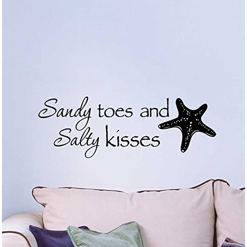 Amazon.com: Ideogram Designs Wall Decal Sandy toes and Salty ...