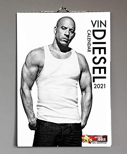 Vin Diesel The Fast & Furious & Bloodshot Star 2021 Hollywood Idols A3 Wirobound Calendar The Perfect Xmas or Birthday Gift