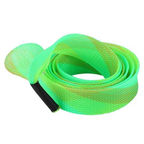 SALUTUYA Calcetines para caña de Pescar, Funda para caña de Pescar, Funda para caña Que no se deforma con un Uso prolongado, Funda para caña de Pescar de plástico Viajes(Green-Yellow)