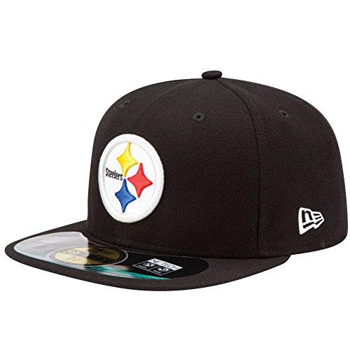 New Era NFL pour Homme Pittsburgh Steelers on Field 5950 Jeu Casquette de, Mixte, 10529751, Noir, 7.625