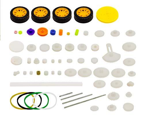 MissBirdler 78 Teile Nylon Zahnräder Zahnrad Getriebe Set für Arduino Steppermotoren Motor