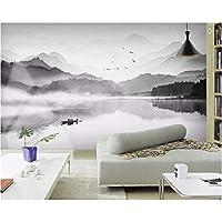 3D壁紙ポスター黒と白の風景カスタム大規模な壁紙の壁紙3Dテレビの背景リビングルームの写真の壁紙3Dルームの壁紙-450X300cm(177 x 118インチ)
