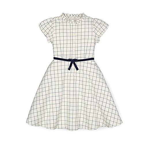 Hope & Henry Girls' Short Puff Sleeve French Schoolgirl Dress White