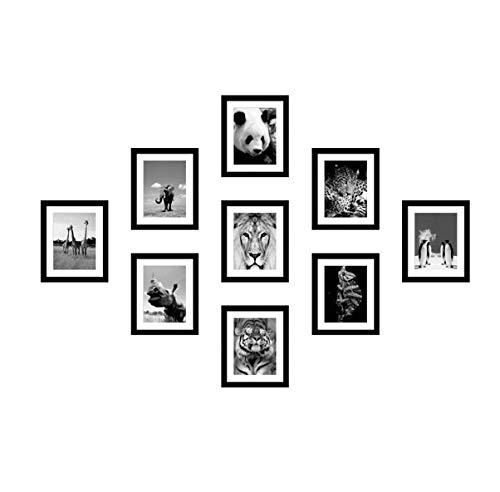 LONGWDS Marco de fotos Minimalista de madera maciza Imagen de pared moderna de la foto de pared creativo colgar de la pared del restaurante del dormitorio sala de estar Photo Frame Combinación de foto