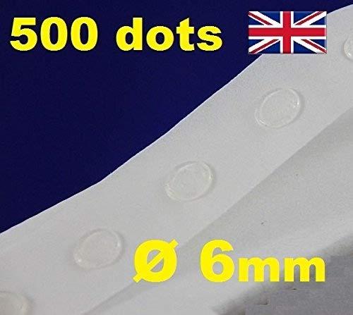 500Klebepunkte, transparent, zur Kartenfertigung/Scrapbooking, wiederablösbar, 6mm