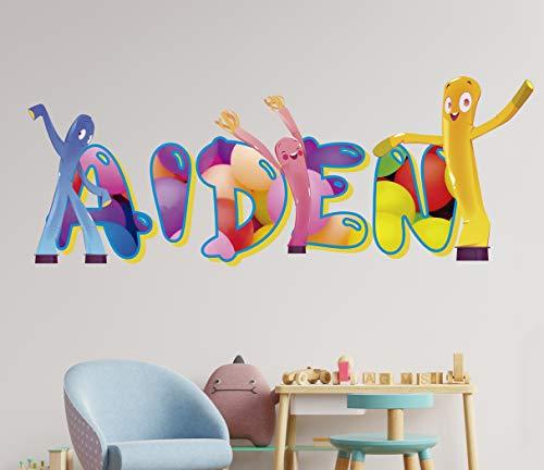Figuras Inflables Calcomania de pared - Personaliza tu pegatina- Vinilos para cuartos - Adornos para cuarto de niños – Murales Nombre Personalizados - KA563 (Pequeño: 71cm x 30cm)