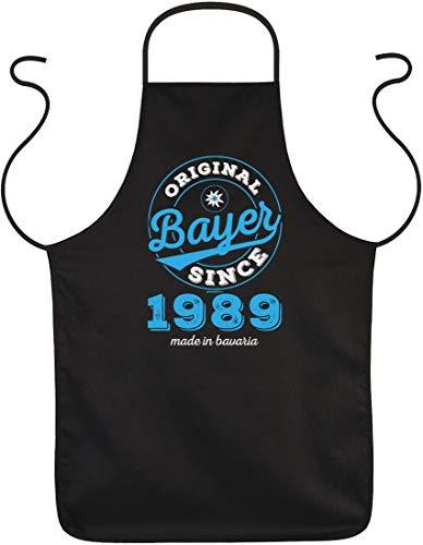 Original Bayer Since 1989 made in bavaria - Grill Koch Küchen Schürze mit Spruch - tolle Geschenkidee für Geburtstage