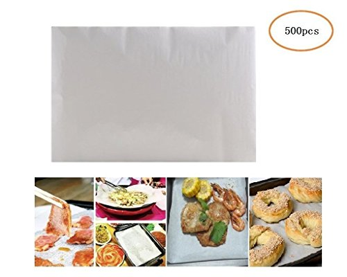 """(500 Sheets) Non-Stick square Parchment Paper Baking Sheets Baking Paper Liners, 8""""x12"""" inch"""