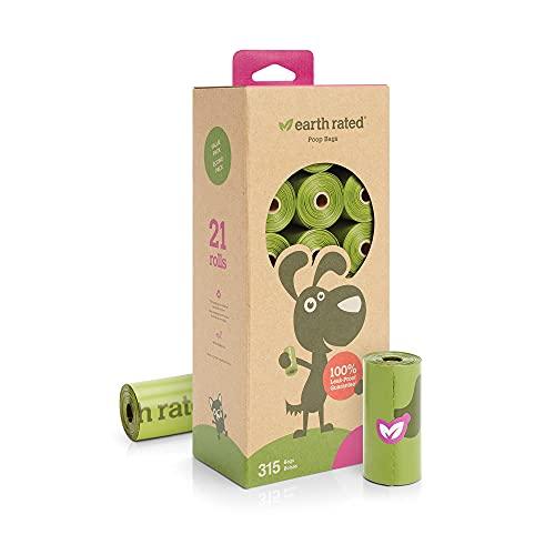 Earth Rated PoopBags 315 - Bolsas de recambio perfumadas (tamaño grande), color verde