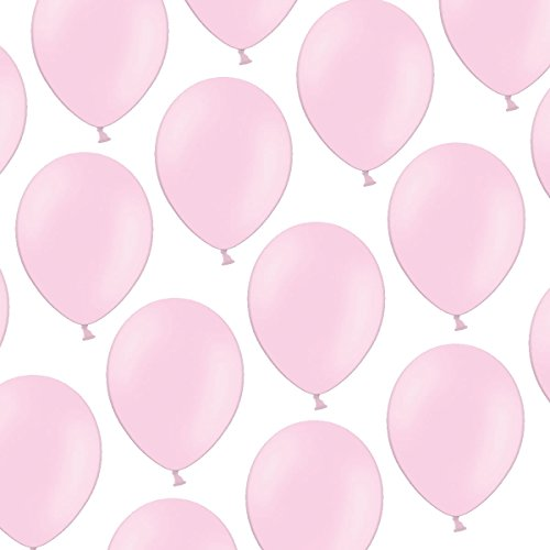 Kleenes Traumhandel 100 Luftballons - 23 cm - Pastell Baby Rosa Baby Pink- Formstabil