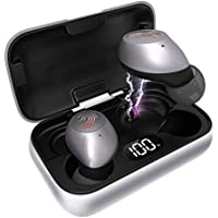 HeaTal Bluetooth 5.0 True Wireless Earbuds with Charging Case