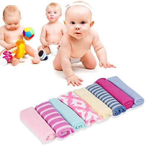 Swiftswan Toallas suaves para bebés, 8 unidades de manoplas de baño para bebés recién nacidos, toallas de baño