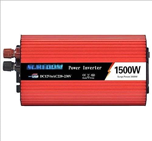 Inversor de alimentación de automóviles Inversor de la onda sinusoidal pura DC 12V 24V a 110V 220 V CA Convertidor de voltaje de camión LORRY INCLUSIVO Puerto de carga plantándose USB,12vto220v