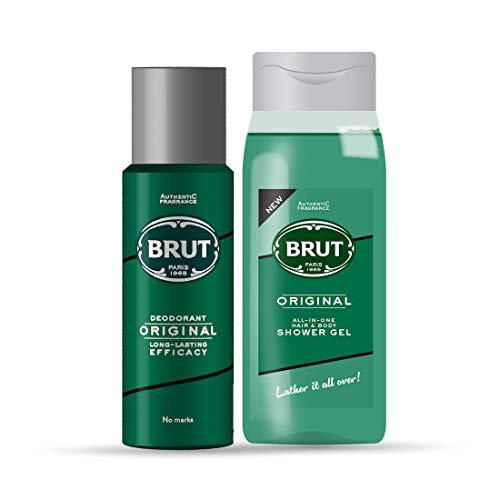 Brut Original Deodorant 200ml + Brut OriginalAll – In- one Hair & Body Shower Gel 500ml
