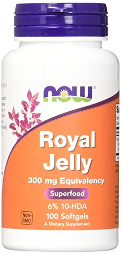 NOW Supplements, Royal Jelly 300 mg with 10-HDA (Hydroxy-D-Decenoic Acid), 100 Softgels
