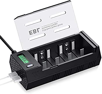 EBL LCD Individual Battery Charger for AA AAA C D 9V NiMH