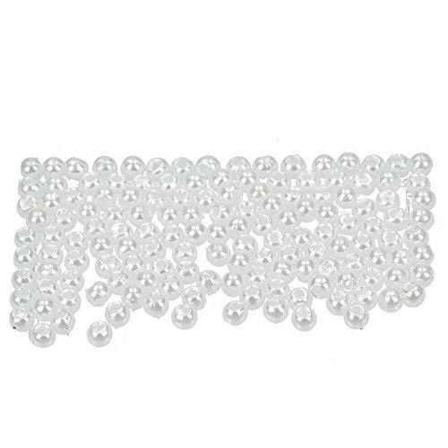 efco–Wachs Perlen, Kunststoff, weiß, Blickdicht, 3mm Durchmesser, 125-piece