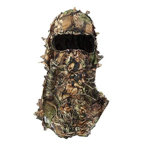 LQKYWNA Ghillie Camouflage Leafy Hat, Gorra táctica Sombreros Gear Hunting 3D Máscara cómoda Capucha de Camuflaje de Turquía