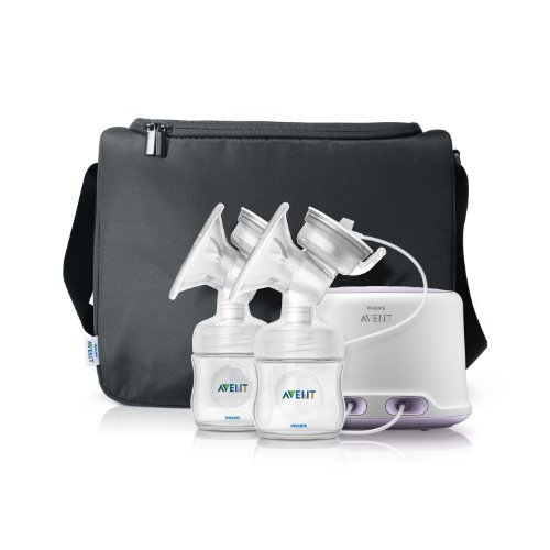 Philips AVENT Double Electric Comfort Breast Pump, White Style: New Version Nourrisson, bébé, enfant
