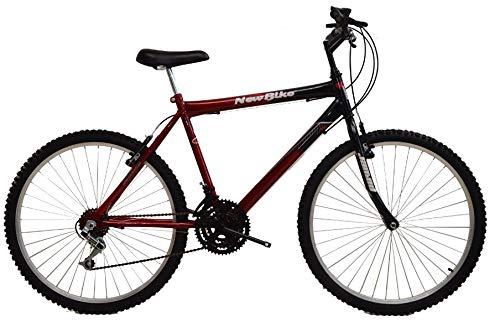 Bicicleta aro 26 18 marchas new bike sport vermelha (vermelha)