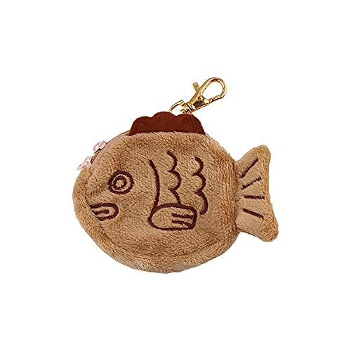 Taiyaki portemonnee – kleine portemonnee kan enkele kleine items bevatten, pluche speelgoed portemonnee cadeau voor…