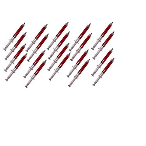 Lg-Imports 20x Dauerschreiber Spritze Medizin Kugelschreiber Stift Schreibstift Kulli rot