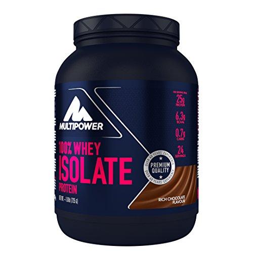 Multipower 100% Whey Isolate Protein – 725 g Pack – Proteinpulver enthält essentielle Aminosäuren (BCAA) – 25 g Eiweiß pro Portion – Eiweißpulver für einen Proteinshake – Schoko