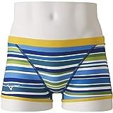 MIZUNO(ミズノ) 競泳水着 トレーニング 練習用 メンズ エクサースーツ ショートスパッツ Ri 池江璃花子コレクション N2MB996027 サイズ:130 ブルー