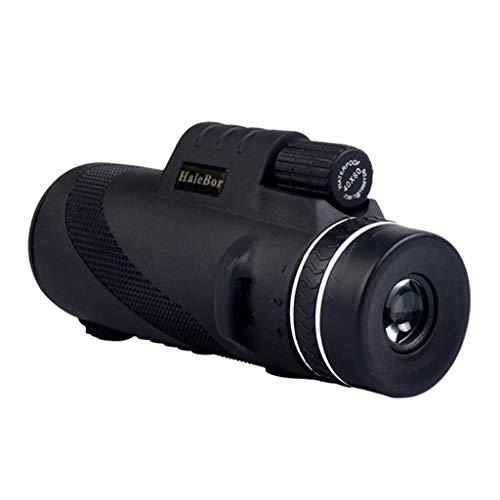 Sayl Monokulare Teleskope, 50X60 HD Monokular Wasserdicht Monokular-Teleskope Beschlagfest Super-Teleobjektiv für Vogelbeobachtung, Wandern Sightseeing, Konzert Ballspiel, Camping (Schwarz)