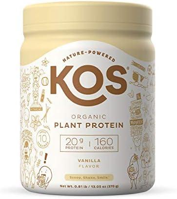 KOS Organic Plant Based Protein Powder Vanilla Delicious Vegan Protein Powder Gluten Free Dairy product image