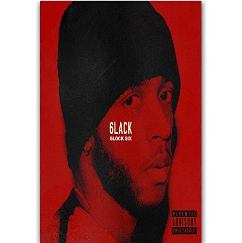 RUIYAN Leinwandbilder Wandkunst Bild Glock Six 6Lack Rapper Musik Sänger Star Poster Ka87T 40X60Cm Ohne Rahmen