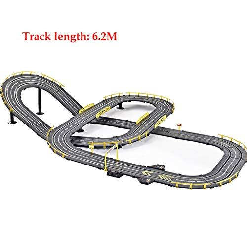 ZKW-Track Slot Car Race Track 6.2M Grande de la Pista 1: 43 Órbita Modelo de Acero Inoxidable de Empalme Track R/C de Alta Velocidad eléctricos y manuales Regalos de cumpleaños Barra de Navidad Remo