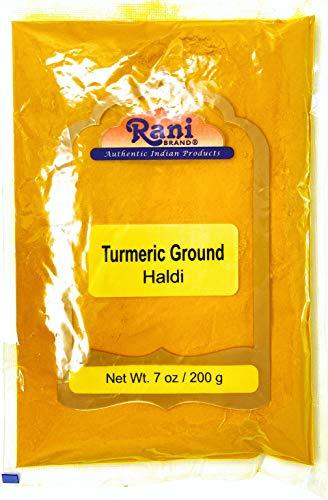 Rani Turmeric (Haldi) Root Powder Spice, (High Curcumin Content) 7oz (200g) ~ All Natural | 100% Pure, Salt Free | Vegan | Gluten Friendly Ingredients | Non-GMO | Indian Origin