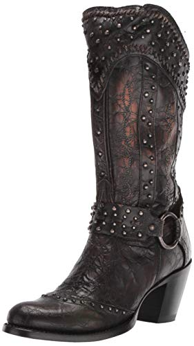 Dan Post Boots Women's Sexy Back Western Boot, Black, 8.5 M US