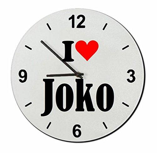 Druckerlebnis24 Glasuhr I Love Joko eine tolle Geschenkidee die von Herzen kommt| Wanduhr| Geschenktipp: Weihnachten Jahrestag Geburtstag Lieblingsmensch
