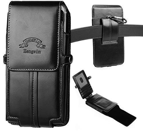 Hengwin Vertical Phone Holster, Smooth PU Leather Holster Belt Clip Pouch Wallet Case with Card Slots Compatible with iPhone 11 XS Max 8 Plus 7 Plus Samsung Galaxy Note 20 10+ 9 8 5 S10+ S9+ S8 Plus