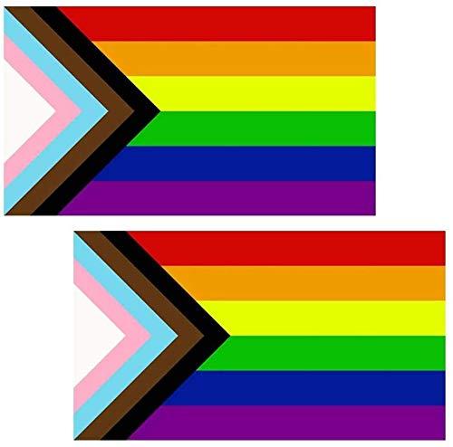 HDCRAFTER 2 stücke Inklusive Stolzflagge 3x5 für Gartendekoration der Outdoor-Garten-Deko-Pride-Regenbogen-Flagge - perfekt, um Ihre Stolz-Community-Unterstützung zu Zeigen! (Color : 2PCS)