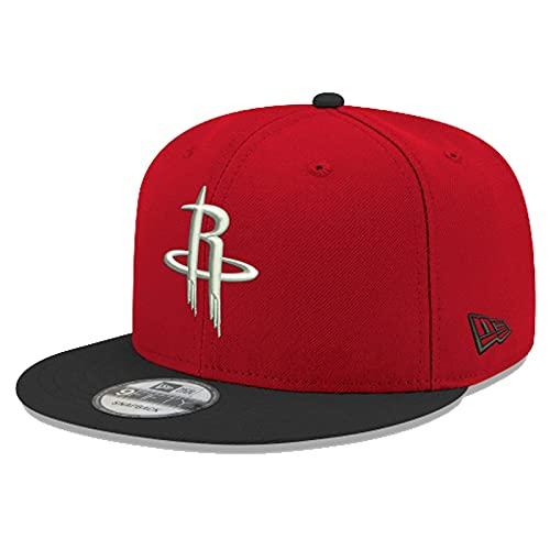 New Era Gorra para hombre NBA Houston Rockets 2Tone Basic 9Fifty Snapback para hombre rojo/negro